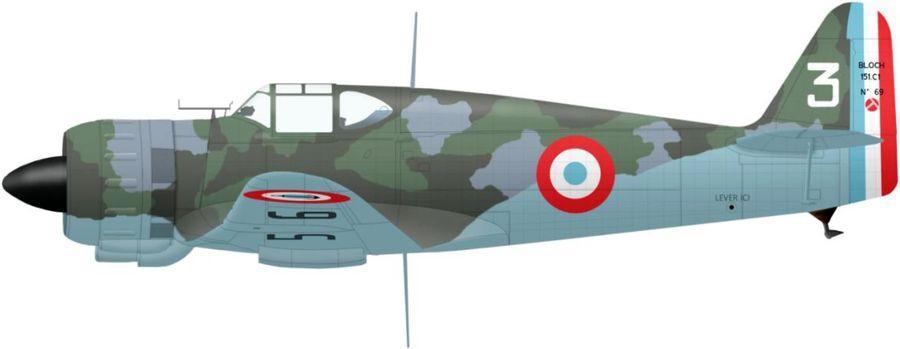 Bloch n 69 type 151 ac3 3 sm miramond le 15 juin 1940