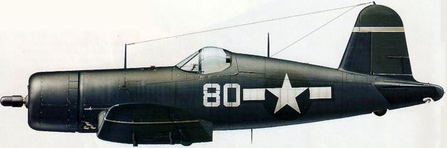 Chance vought corsair f4u 1d dhorne
