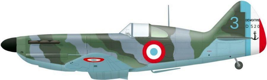 Dewoitine 520 n 333 code 3 de l escadrille ac2 en juin 1940
