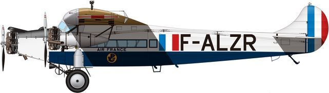 Fokker f alzr air france tilley