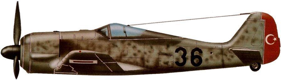Fw 190 a 3 5e regiment aerien turquie 1943