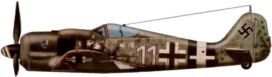 Fw 190 a 8 gefreiter walter wagner 5 jg4 st trond 1945