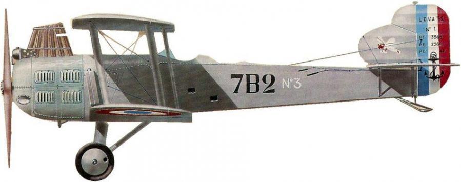 Levasseur at2 pl2 no 1 escadrille 7b2 hyeres le palyvestre 1927 jean jacques petit
