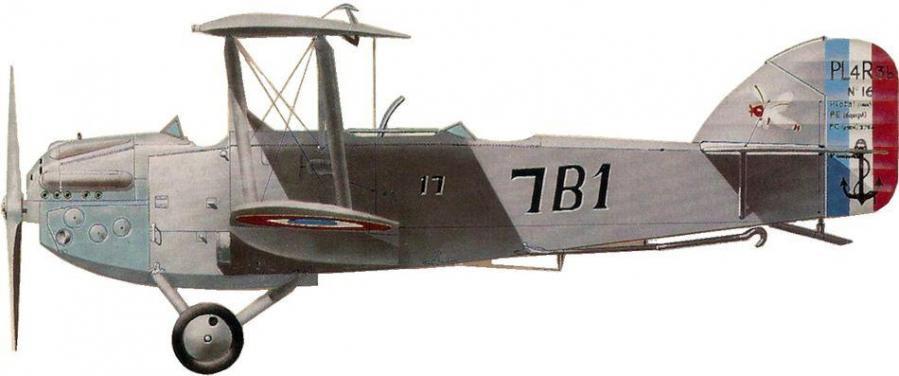 Levasseur pl 4 no16 7b1 17 escadrille 7b1 hyeres le palyvestre 1929 jean jacques petit