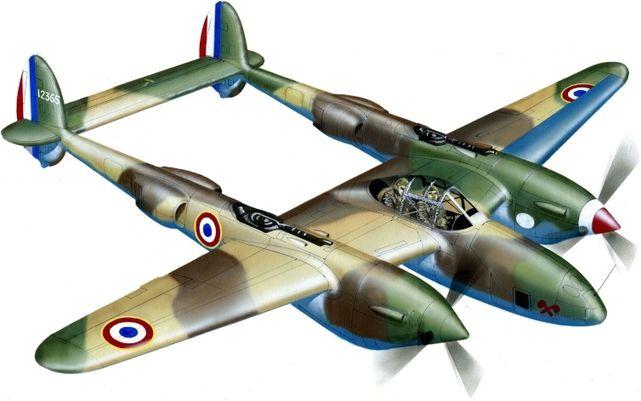 Lockheed f 4a lightning jj petit