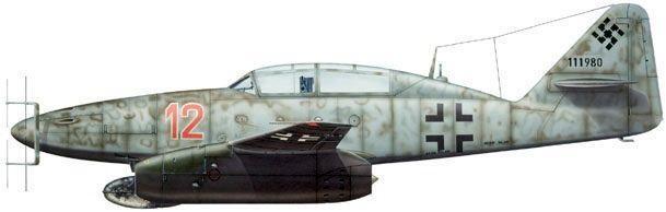 Messerschmitt me 262b dhorne