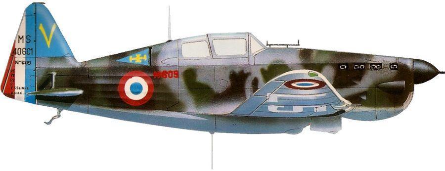 Morane ms 406 no 609 gc i 7 syrie 1940