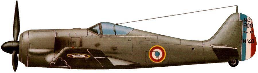 Nc 900 no 40 cazaux france 1946