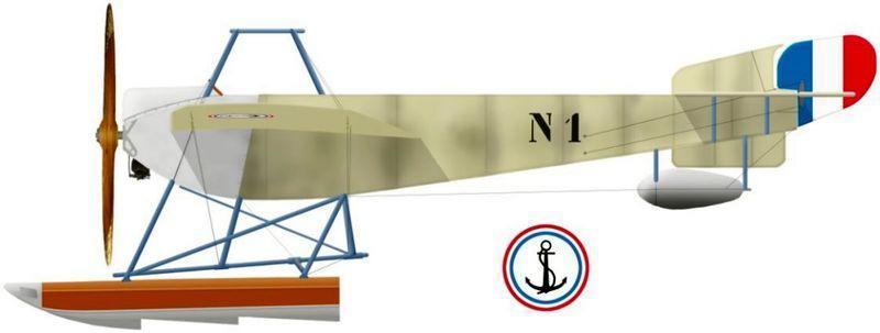 Nieuport hydro n1 type vi gnome 100 hp en 1913
