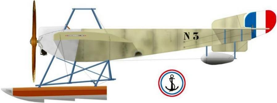 Nieuport hydro n3 type vi gnome 100 hp en 1914