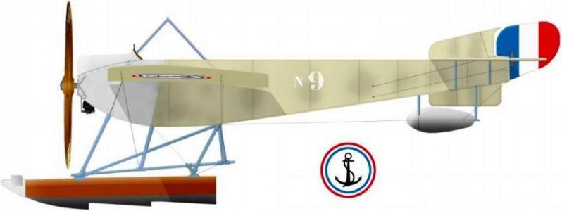 Nieuport hydro n9 type vi gnome 100 hp en 1914