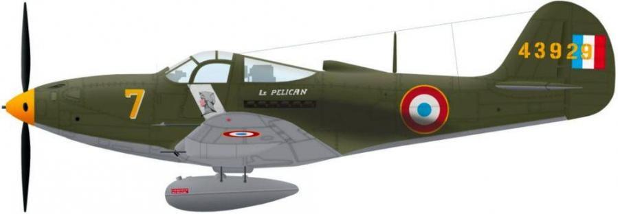 P39 q airacobra no 43929 du gc ii6 du mt surzur en 1944