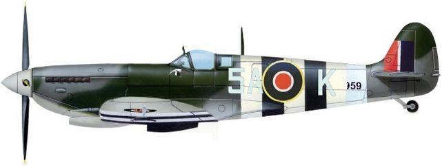 Supermarine spitfire ix sqn 329 jj petit