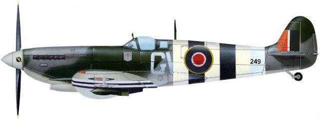 Supermarine spitfire ix sqn 340 jj petit