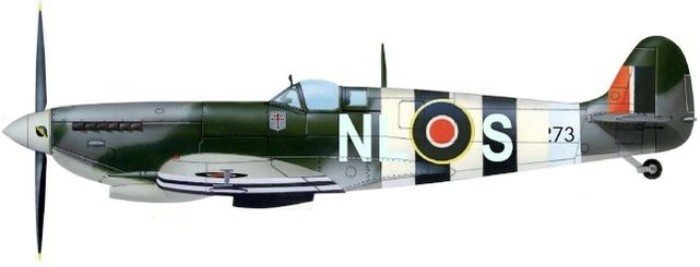 Supermarine spitfire ix sqn 341 jj petit
