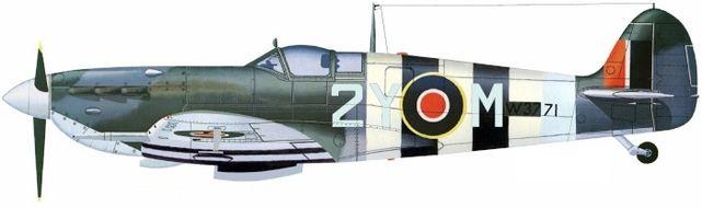 Supermarine spitfire ix sqn 345 jj petit