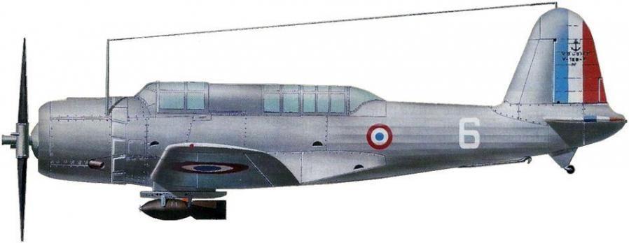 Vought 156f no 8 escadrille ab1 flotille f1a 1940 jean jacques petit